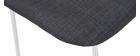 Tabourets de bar design tissu gris 75 cm (lot de 2) PALIKAO - Miliboo & Stéphane Plaza