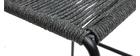 Tabourets de bar d'extérieur cordage gris 72 cm (lot de 2) YORGO