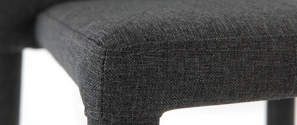 Tabourets de bar empilables gris (lot de 2) KARLA