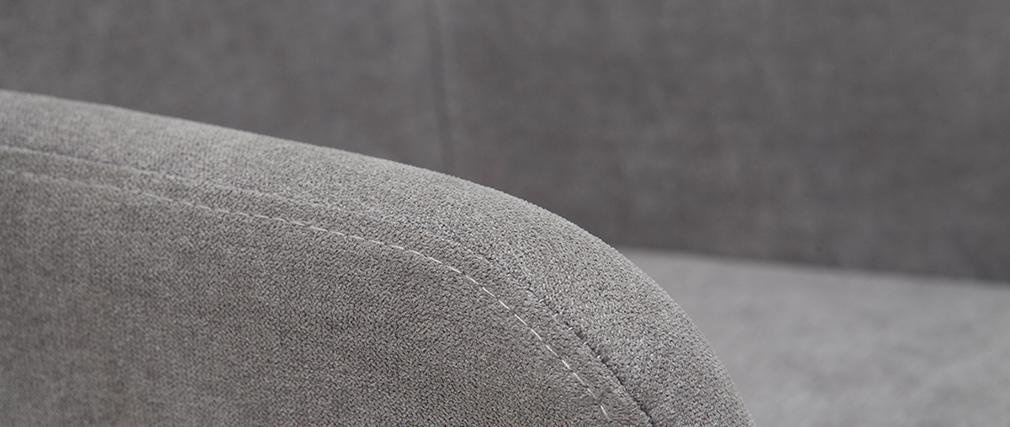 Tabourets de bar en tissu effet velours gris H67 cm (lot de 2) AMIKA