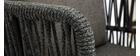 Tabourets de bar intérieur/exterieur tressés gris 76 cm (lot de 2) NALA
