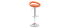 Tabourets de bar modernes orange COMET (lot de 2)