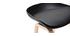 Tabourets de bar noirs et pieds bois H65 cm (lot de 2) LINO