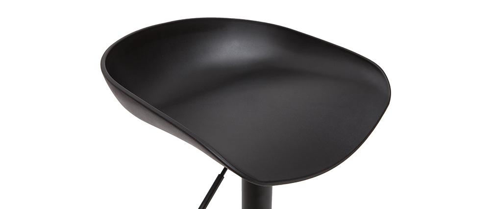 Tabourets de bar réglables design noirs H65 cm (lot de 2) PEBBLE