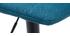 Tabourets de bar réglables en tissu et métal bleu canard (lot de 2) SAURY