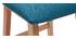 Tabourets de bar scandinaves bleu canard 65 cm (lot de 2) OSAKA