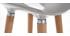 Tabourets de bar scandinaves gris (lot de 2) GILDA