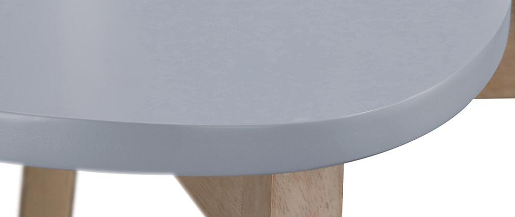 Tabourets de bar scandinaves gris et bois H65 cm (lot de 2) LEENA