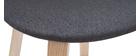 Tabourets de bar scandinaves gris foncé H65 cm (lot de 2) NONIE
