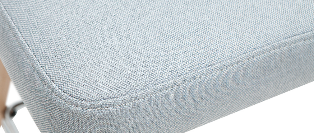 Tabourets de bar scandinaves pivotants gris clair H65 cm (lot de 2) HASTA