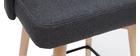 Tabourets de bar scandinaves pivotants gris foncé H65 cm (lot de 2) HASTA