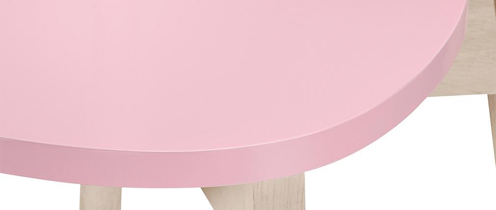 Tabourets de bar scandinaves roses H65 cm (lot de 2) LEENA