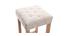 Tabourets de bar tissu beige naturel H75 cm (lot de 2) RIVOLI