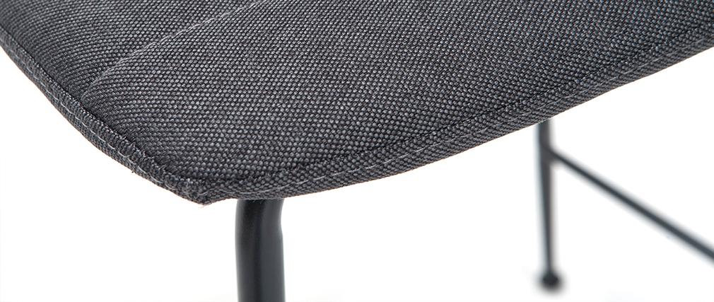 Tabourets de bar tissu et métal gris foncé 65 cm (lot de 2) SAURY