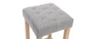 Tabourets de bar tissu gris clair H75 cm (lot de 2) RIVOLI