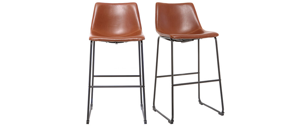 Tabourets de bar vintage marron clair 73 cm (lot de 2) NEW ROCK