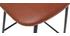 Tabourets de bar vintage marron clair avec pieds métal 65 cm (lot de 2) LAB