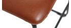 Tabourets de bar vintage marron clair H61 cm (lot de 2) NEW ROCK