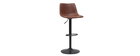 Tabourets de bar vintage réglables marron clair (lot de 2) NEW ROCK