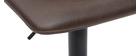 Tabourets de bar vintage réglables pivotants marron (lot de 2) NEW ROCK