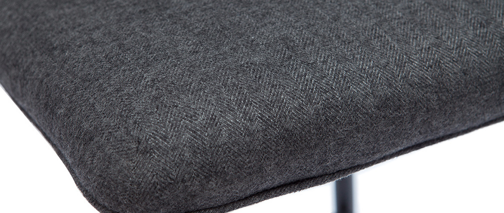 Tabourets de bar vintage tissu gris foncé (lot de 2) H62 cm FARELL