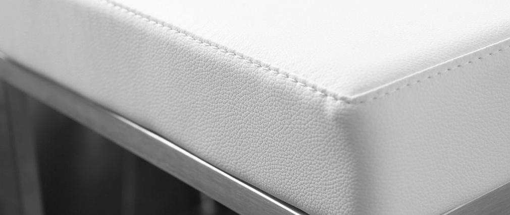 Tabourets design blanc (lot de 2) Omicron