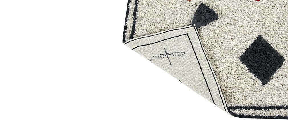Tapis à motifs coton 140x200cm LIMA