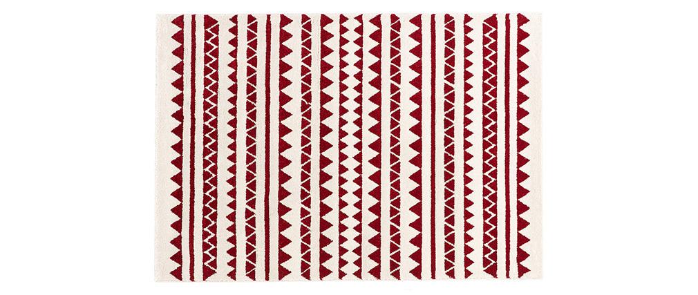Tapis à motifs graphiques rouge 120 x 170 cm TAYA