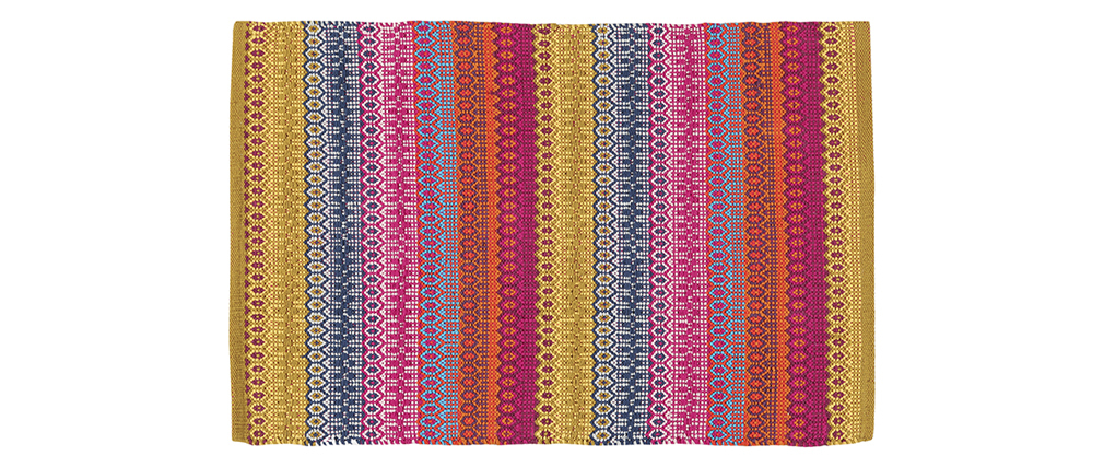 Tapis à motifs multicolore 140 x 200 cm SENEGAL