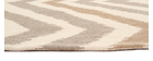 Tapis beige à motifs 140 x 200 cm ZIGZAG