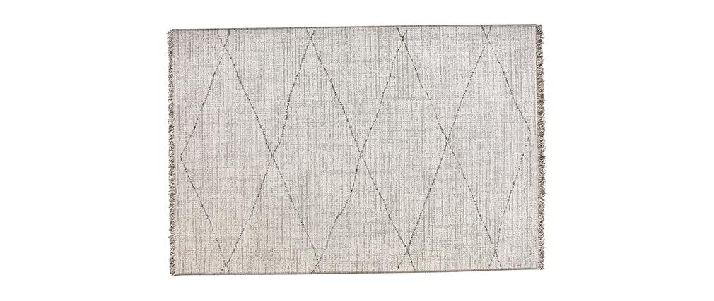 Tapis blanc type berbère à motif losange 160 x 230cm BADILA