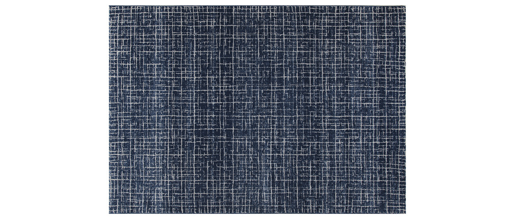 Tapis bleu à motif graphique 160 x 230 cm SAPHIR