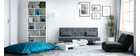 Tapis bleu gris acrylique-coton 155x230 SNAKE