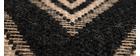 Tapis chevrons noir et naturel 160 x 230 cm MISSO
