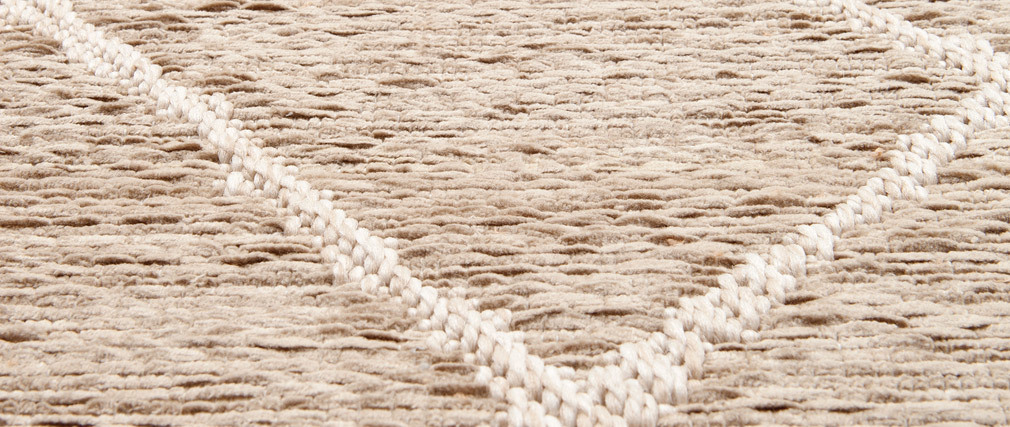 Tapis coloris naturel polypropylène 160x230 FLOW