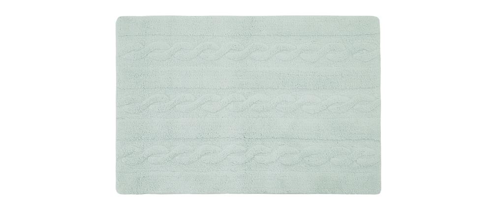 Tapis coton 120x160cm menthe INES