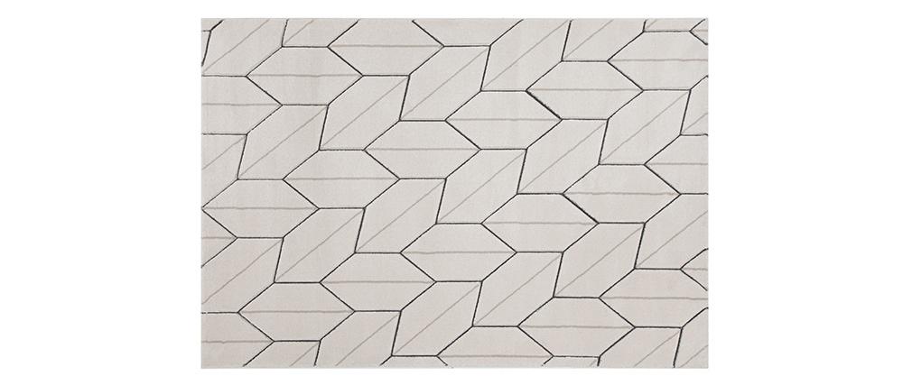 Tapis design beige naturel 160 x 230 cm CORN