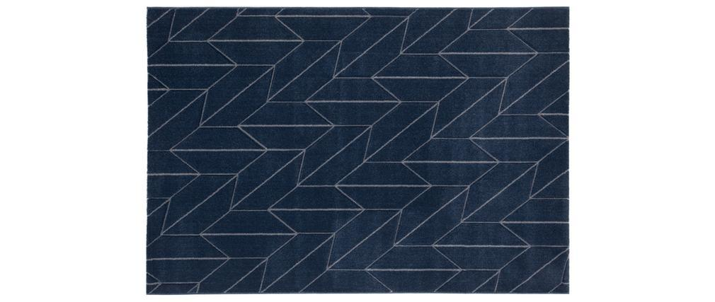 Tapis design bleu 160 x 230 cm BRAQ