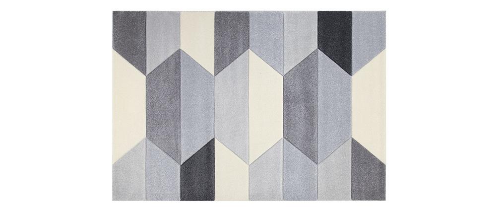 Tapis design gris 160 x 230 cm NAVETTE