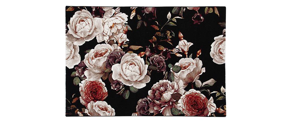 Tapis design motif roses 160 x 230 cm GALICA