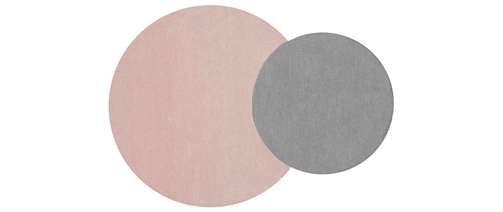 Tapis double gris et rose 140x200cm ECLIPSE