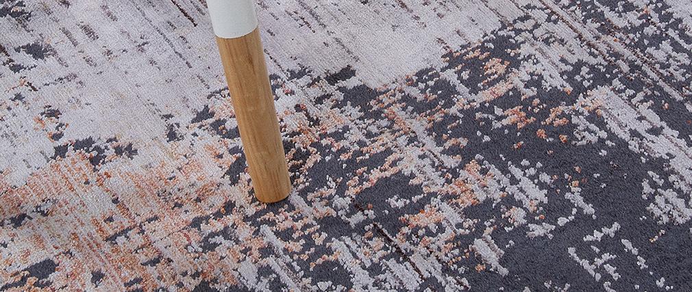 Tapis effet usé gris160 x 230 cm PERRE