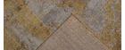Tapis effet usé jaune avec motif tissé 160 x 230 cm PERSE