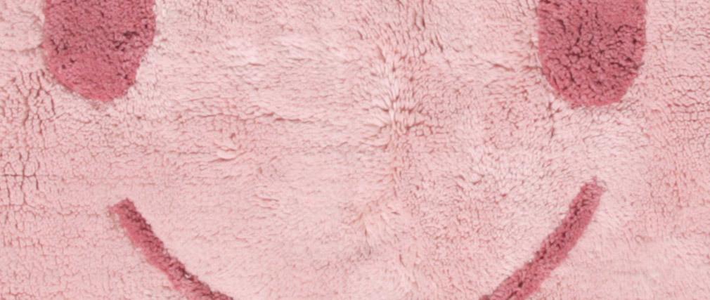 Tapis enfant en coton rose 75x115 cm NIMBUS