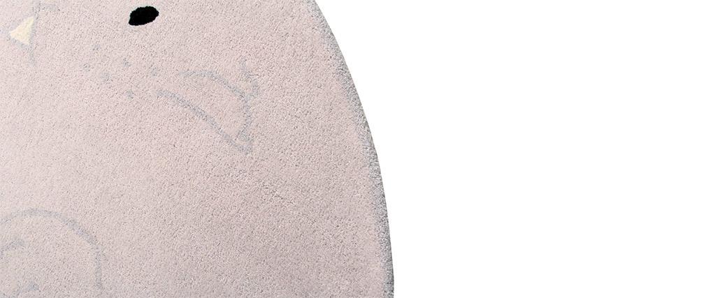 Tapis enfant gris clair 150x200cm BUNNY