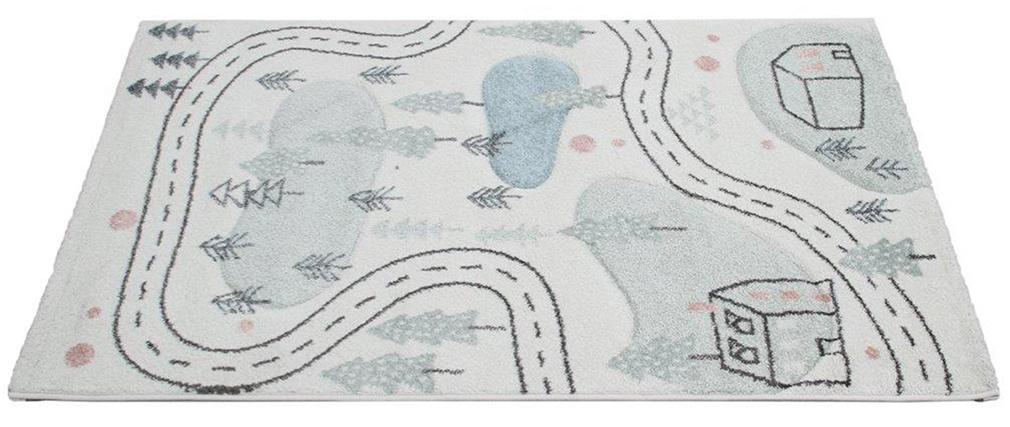 Tapis enfant motif route 100 x 150 cm NINO