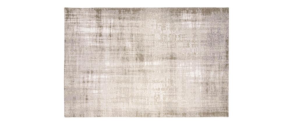 Tapis gris clair acrylique et coton 155x230 USED