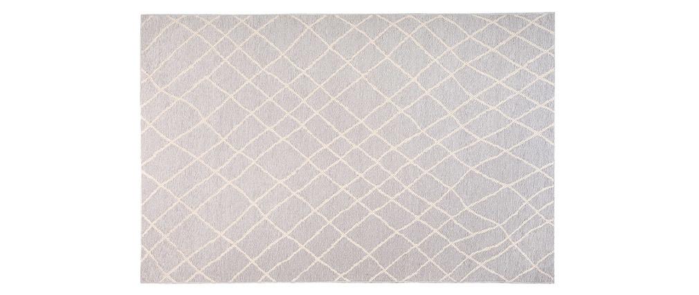 Tapis gris clair polypropylène 160x230 FLOW