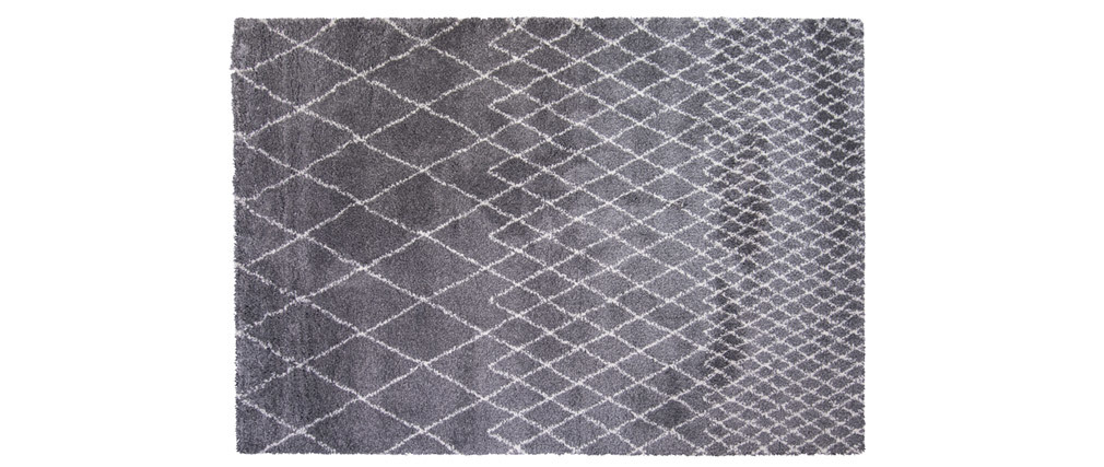 Tapis gris clair polypropylène 160x230 LATTICE