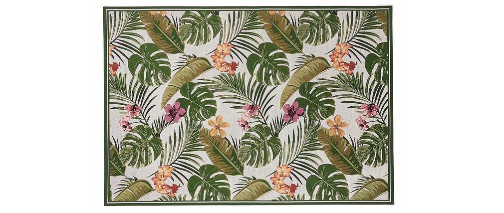 Tapis intérieur extérieur à motifs multicolore 123 x 180 cm TAHIA